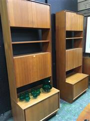 Sale 8643 - Lot 1029 - Pair of Koford Larson Bookcase Units