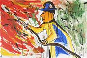 Sale 8781 - Lot 563 - Adam Cullen (1965 - 2012) - The Fight, 2009 102 x 153cm