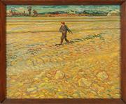 Sale 8855H - Lot 315 - A framed print of Vincent Van Goghs Le Meur, Frame size 41cm x 49cm