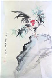 Sale 8869C - Lot 663 - A Chicken Themed Chinese Art Work