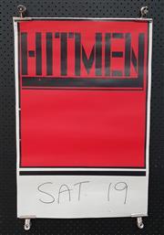 Sale 8943 - Lot 1067 - Vintage Hitmen Promotional Poster (H: 76 x W: 51cm)