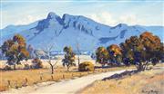 Sale 9067 - Lot 502 - Dudley Parker (1914 - 1989) - Wheon Peaks, Warrumbungles 37 x 65 cm (frame: 57 x 85 x 3 cm)