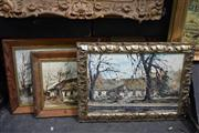 Sale 8410T - Lot 2010 - Artist Unknown (XX) (3 works) - Country Scenes largest 33 x 50cm