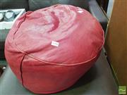 Sale 8424 - Lot 1058 - Red Leather Ottoman