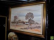 Sale 8471 - Lot 2091 - Savage, The Suns Touch of Gold, oil SLR