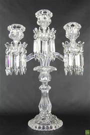 Sale 8572 - Lot 6 - Baccarat Three Arm Candelabra