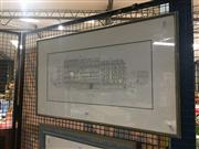 Sale 8707 - Lot 2082 - Artist Unknown - Paris Street Scene pencil and watercolour, 48.5 x 82cm, signed lower right
