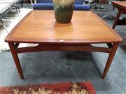 Sale 8741 - Lot 1077 - Square G Plan Teak Coffee Table
