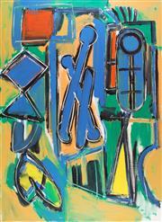 Sale 8787A - Lot 5001 - Dick Watkins (1937 - ) - Three Figures, 1984 168 x 122cm