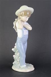 Sale 8796 - Lot 78 - Lladro Figure Of A Boy Carry Basket (Basket Broken)