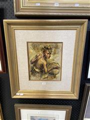 Sale 8888 - Lot 2006 - Indonesian School - Drummer Boy 1999 acrylic on canvas, 57 x 51.5cm (frame)