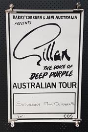 Sale 8943 - Lot 1068 - Vintage Gillan Australian Tour Poster, 1981 (H: 76 x W: 50.5cm)