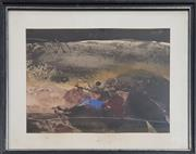 Sale 8978 - Lot 2043 - Allan Hansen Landscape 1979 watercolour and gouache, 43 x 53cm (frame), signed and dated lower left