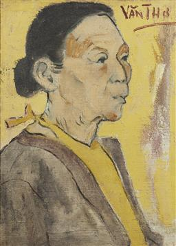 Sale 9118A - Lot 5054 - Van Tho - Portrait of Old Woman, 1980 50 x 37 cm