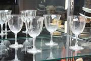 Sale 8324 - Lot 4 - Lalique Set of 4 Wine Glasses