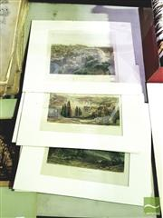 Sale 8552 - Lot 2094 - Collection of (7) C19th Engravings - Edinburgh; Constantinople; London; Brussels; Dublin; Berlin; Peking mount size: 30.5 x 38cm