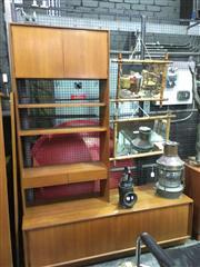 Sale 8643 - Lot 1086 - Koford Larson Teak Bookcase Wall Unit