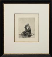 Sale 8716 - Lot 2010 - After Rembrandt Van Rijn (1606 - 1669) - Untitled, 1639 20 x 15.5cm