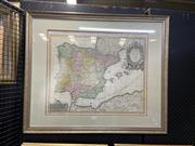 Sale 8924 - Lot 2077 - Antique Hand-Coloured Map of Spain and Portugal