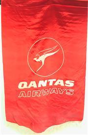Sale 8963 - Lot 32 - Vintage Qantas Flag (H:100 x W:66cm)
