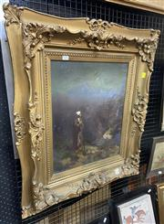 Sale 9011 - Lot 2024 - Lionel W? When I Call To Thy Heavens, oil on canvas, 80 x 70cm (frame size), signed distinctly lower right