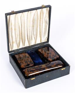 Sale 9190E - Lot 39 - A vintage cased British Xylonite brush set
