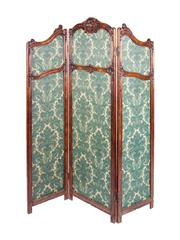 Sale 8379A - Lot 51 - A French oak three fold screen in the Louis XV style. Provenance the collection of Kenneth Cavell, Australian author, antique collec...