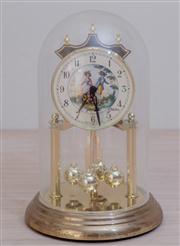 Sale 8430 - Lot 81 - An E Kaller, 400 day glass dome clock. Height 23cm.