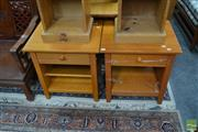 Sale 8472 - Lot 1086 - Pair of Timber Bedsides