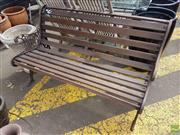 Sale 8601 - Lot 1243 - Wrought Iron End Two Seater Outdoor Bench