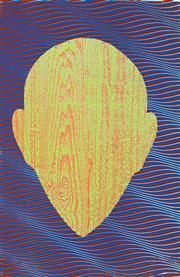 Sale 8787A - Lot 5003 - Howard Arkley (1951 - 1999) - Untitled (Woodgrain Zappo Head), 1991 53 x 34cm