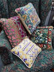 Sale 8863 - Lot 1075 - Tapestry-Esque Throw Cushions (4)