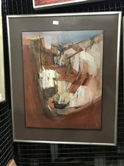 Sale 9045 - Lot 2012 - Susan Sheridan Townscape oil on board, 65 x 54cm (frame) signed lower right