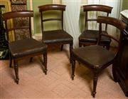 Sale 8418A - Lot 41 - A set of four mahogany bar back dining chairs