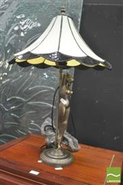 Sale 8418 - Lot 1009 - Pair of Nude Form Table Lamps