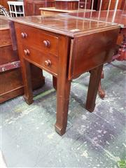 Sale 8617 - Lot 1046 - 19th Century Cedar Printers Table, with drop-leaves, two drawers & square shaped legs (crack to top) (H: 78 W: 66 D: 45cm) (Each Le...