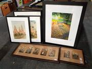 Sale 8671 - Lot 2081 - 3 Water Colours, 2 Framed Sets of Hand Coloured Prints and a Lars Vester Framed Ltd Ed Print