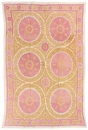 Sale 8725C - Lot 20 - A Vintage Uzbekistan Tapestry Carpet, Hand-knotted Wool, 355x220cm, RRP $4,000