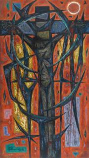 Sale 8787A - Lot 5004 - John Coburn (1925 - 2006) - Crucifixion, 1959 213.5 x 122cm