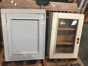 Sale 8822 - Lot 1732 - Timber Wall Mount Cabinet & Another with Glass Panel Door - 222