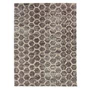 Sale 8915C - Lot 17 - India Agra Hex Design Carpet in Natural, 250x300cm, Handspun Wool