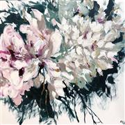 Sale 9072A - Lot 5001 - Cheryl Cusick - Pink Posy 102 x 102 cm (stretched and ready to hang)