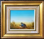Sale 9072 - Lot 2026 - Sue Nagel Pair of King Quail oil on board, frame: 36 x 41 cm, signed lower right -