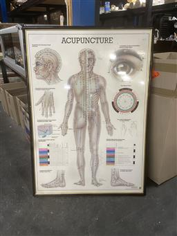 Sale 9101 - Lot 2083 - Acupuncture chrome wall hanging