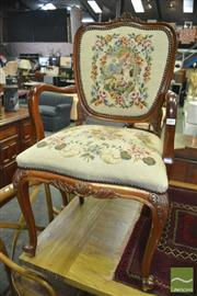 Sale 8390 - Lot 1653 - Tapestry Upholstered Carver Chair