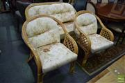 Sale 8523 - Lot 1047 - Cane Three Piece Lounge Suite