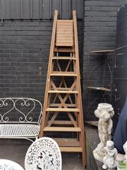 Sale 8601 - Lot 1254 - Pair of Timber A Frame Ladders