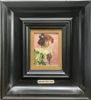 Sale 8939A - Lot 5004 - Mortimer Menpes (1860 - 1938) - Portrait of Mrs Brown Potter, c1900 10 x 17.5 cm