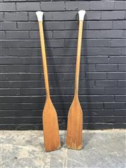 Sale 8988 - Lot 1006 - Pair of Timber Paddles (153cm)