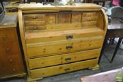 Sale 8390 - Lot 1098 - Pine Cylinder Desk